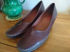 Spanish Pikolinos Brown Leather Moccasin Shoes UK 5