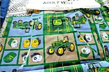 100% Cotton Flannel John Deere Vest and Flannel Lining Fabric Kit Adult