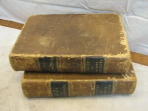 Antique Regnault's Chemistry Book 1860 Leather Imprint Booth & Faber 2 Vol