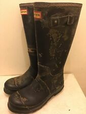 Hunter Wellies Mens Neoprene Wellington Boots Black Size 8 UK / 42 EU