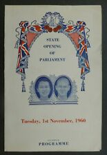 1960, Programme (State Opening Of Parliament )