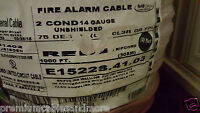 Carol E1522S 14/2C Solid UnShielded Riser Fire Alarm Cable Wire FPLR/CL3R /100ft