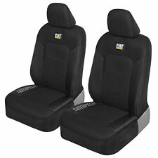 Automotive Seat Covers for Front Seats - Caterpillar Black Car Seat Cover Set