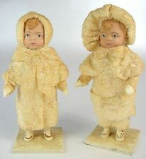 Vintage Elaine Roesle SNOW CHILDREN 1991 Brother& Sister Matched Pair - Perfect