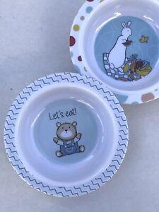 Little Me Baby Feeding 2 Bowls Set Bear & Bunny Baby Boy Feeding