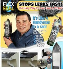 2 - Flex Seal Rubber Spray Sealant As Seen On TV 14 oz Brite WHITE Cans NEW FSB2