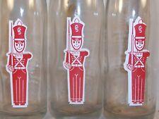 3 Vintage Soldier Soda Pop Bottle Ranibow Beverage Memphis Tenn Toy Soldier