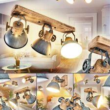 Flur Dielen Strahler Vintage Decken Leuchten Wohn Schlaf Zimmer Lampen grau/Holz