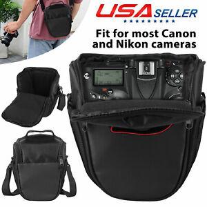 Camera Backpack Shoulder Nylon Waterproof Bag Case for Canon Nikon DSLR Digital