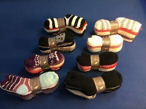 Womens socks: cozy, warm, soft fleece No Show or Mid Crew socks, asst colors 6pk