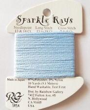 Rainbow Gallery Sparkle Rays SR54 Pale Cornflower 10 yd Needlepoint Cross Stitch