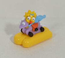 "RARE 1992 Maggie Simpson 3"" Burger King EUROPE Action Figure Simpsons Wheelies"
