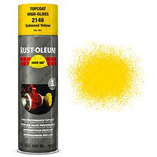 x 15 INDUSTRIEL Rust-Oleum Colza JAUNE Peinture aérosol solide CHAPEAU 500ml RAL