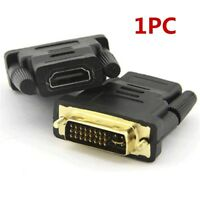 1080P DVI-D Male (24+1pin) to HDMI Female HDTV Adapter Gold-Plated Converter