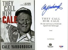 Cale Yarborough SIGNED They Call Him Cale HC 1st Ed NASCAR PSA/DNA AUTOGRAPHED