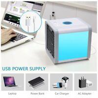 Mini Mobile Climatiseur Rafraîchisseur d'air USB Ventilateur Multifonction 3en1
