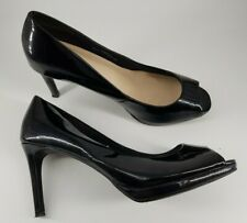 Bar COURT SHOES ~ Size 6.5 WIDE ~ Navy M/&S Faux SNAKE /& SUEDE Stiletto Heel