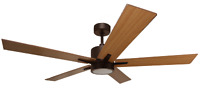 5- Blade Modern Rubbed Bronze Ceiling Fan with Reversible Blades