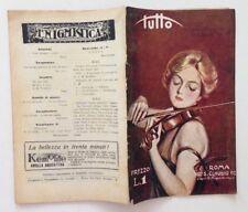Tutto N. 50  14 Dicembre 1924 Violinista l'Equilibrio della Vita di Domani