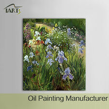 Blumen Ölgemälde Handgemalt auf Leinwand Bild Wandbild Malerei Wohnzimmer Dekor