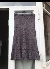 "Catherina Hepfer Purple Wool Long Midi Skirt 33"" Waist B24"