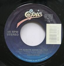 Country 45 Doug Stone - We Always Agree On Love / These Lips Don'T Know How To S