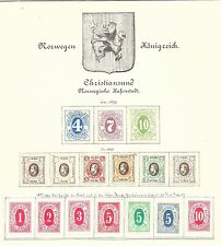 NORWAY LOCALS:  CHRISTIANSUND 1878/9 Numerals to 10 - 70197