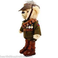 The Great War LTD ED Trooper Jones Light Horse Teddy Bear w WW1 Medal Trio