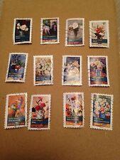 """carnet timbres 2015 """"Bouquets de fleurs"""" oblitérés"""