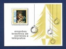 BRAZIL - 1147 - VF MNH S/S  - Christmas -  1969   ---  LOT OF FIVE