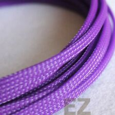 4mm x 5m PURPLE Expandable Braided Cable Sleeving High Density PC RC Modding