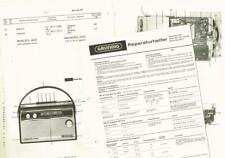Grundig Music-Boy 205  Kofferradio  Schaltplan Manual original ca. 1965