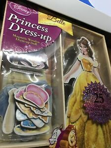 NEW Bendon Disney Princess BELLE 25 PCS Magnetic Wooden Dress-Up Doll Clothes