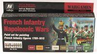 Vallejo 70.164 French Infantry Napoleonic Wars (Black Powder) Acrylic Paint Set