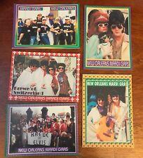 2002 Krewe Of Elvis  Mardi Gras Trading Card Set Of (5)