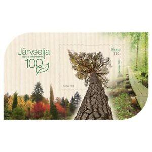 WOODEN SOUVENIR SHEET of ESTONIA 2021 - Järvselja primeval forest
