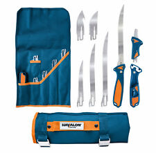 Havalon Talon Fish Cleaning Processing Fillet Knife Kit Set 4-Blade Blue XTC-TF