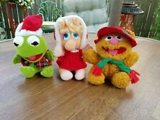 Muppet babies Christmas 1987 Kermit the frog, miss piggy, Fozzy Bear set of 3