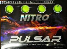 Nitro Pulsar Golf Balls 12 Pack Yellow Brand New Sealed