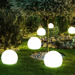 6 x LED Außen SOLAR Steck Leuchten Kugel Garten Wege Lampen Erdspieß  H. 35 cm