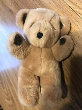 Vintage Gund Stitch Teddy Bear Stuffed Animal Plush 8� #2140 - 1979 Brown Korea