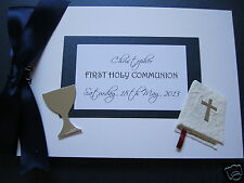 BOY'S FIRST HOLY COMMUNION A5 PERSONALISED guest /memories/photo book/album 30pg