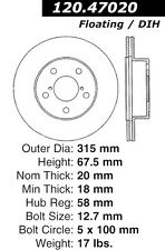 StopTech Sport Slotted Brake Disc fits 2004-2004 Subaru Impreza  STOPTECH