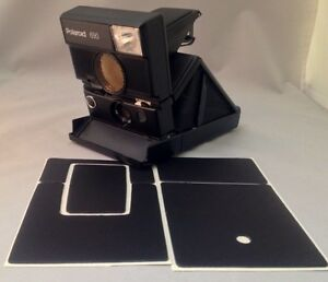 Polaroid SLR680 PolaSkinz Full Grain Napa Leather Black Replacement Skin SX70