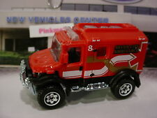 2016 Matchbox 4x4 SCRAMBULANCE☆Red; SEVEN CITY AMBULANCE☆Loose☆Heroic rescue