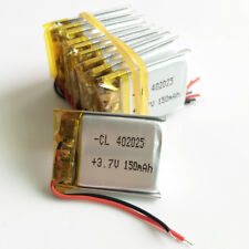 10 pcs 3.7V 150mAh LiPo rechargeable Battery For Mp3 GPS  Rechargeable 402025