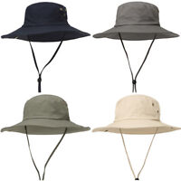 Men Solid Color Fishing Fisherman Cap Casual Outdoor Wide Brim Sunscreen Hat