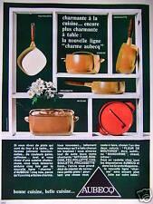 PUBLICITÉ 1967 AUBECQ CASSOULETTE FEU-FOLLETTE MITOUNE - ADVERTISING
