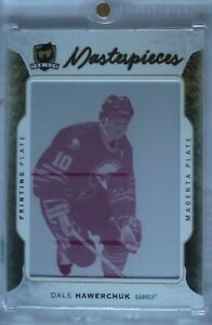 Dale Hawerchuk 2016-17 UD The Cup Masterpieces Magenta Printing Plate 1/1