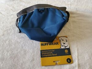 Ruffwear Quencher Cinch Top Waterproof Collapsible Travel Dog Bowl Large D. Blue